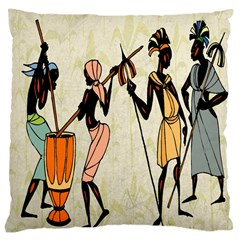 Man Ethic African People Collage Large Cushion Case (one Side)