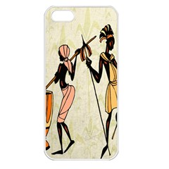 Man Ethic African People Collage Apple Iphone 5 Seamless Case (white)