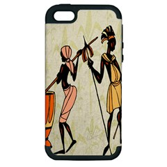 Man Ethic African People Collage Apple Iphone 5 Hardshell Case (pc+silicone)