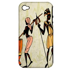 Man Ethic African People Collage Apple Iphone 4/4s Hardshell Case (pc+silicone)