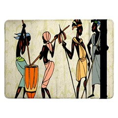 Man Ethic African People Collage Samsung Galaxy Tab Pro 12 2  Flip Case