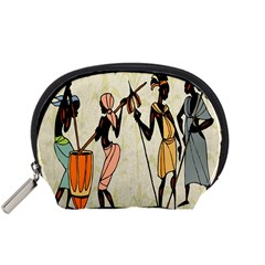 Man Ethic African People Collage Accessory Pouches (small)