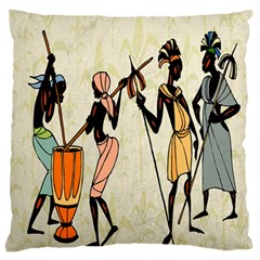 Man Ethic African People Collage Standard Flano Cushion Case (two Sides)