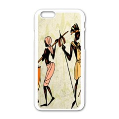 Man Ethic African People Collage Apple Iphone 6/6s White Enamel Case