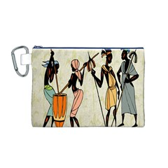 Man Ethic African People Collage Canvas Cosmetic Bag (m)