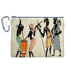Man Ethic African People Collage Canvas Cosmetic Bag (xl)