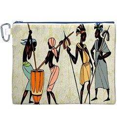 Man Ethic African People Collage Canvas Cosmetic Bag (xxxl)