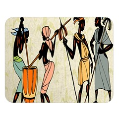 Man Ethic African People Collage Double Sided Flano Blanket (large)