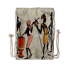 Man Ethic African People Collage Drawstring Bag (small)