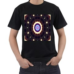 Mandala Art Design Pattern Men s T Shirt (black) (two Sided)