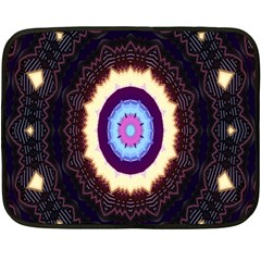 Mandala Art Design Pattern Fleece Blanket (mini)