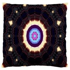 Mandala Art Design Pattern Large Flano Cushion Case (one Side)