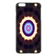 Mandala Art Design Pattern Apple Iphone 6 Plus/6s Plus Black Enamel Case
