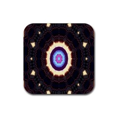 Mandala Art Design Pattern Rubber Coaster (square)