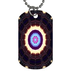 Mandala Art Design Pattern Dog Tag (two Sides)