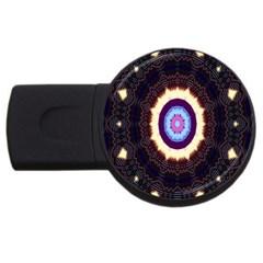 Mandala Art Design Pattern Usb Flash Drive Round (4 Gb)