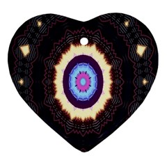 Mandala Art Design Pattern Heart Ornament (two Sides)