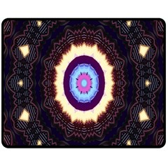 Mandala Art Design Pattern Double Sided Fleece Blanket (medium)
