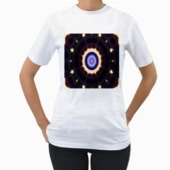 Mandala Art Design Pattern Women s T Shirt (white)
