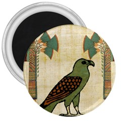Egyptian Paper Papyrus Bird 3  Magnets