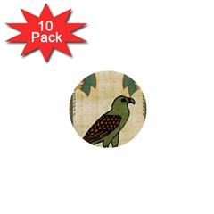 Egyptian Paper Papyrus Bird 1  Mini Buttons (10 Pack)