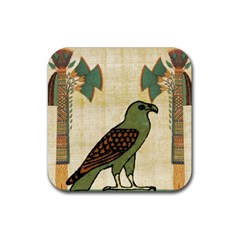 Egyptian Paper Papyrus Bird Rubber Coaster (square)