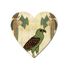 Egyptian Paper Papyrus Bird Heart Magnet
