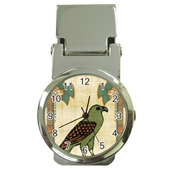 Egyptian Paper Papyrus Bird Money Clip Watches