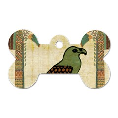 Egyptian Paper Papyrus Bird Dog Tag Bone (one Side)