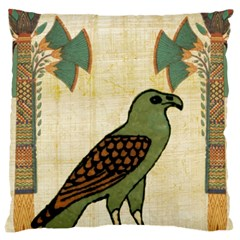 Egyptian Paper Papyrus Bird Large Cushion Case (two Sides)