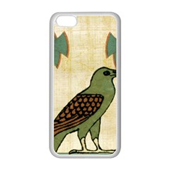 Egyptian Paper Papyrus Bird Apple Iphone 5c Seamless Case (white)