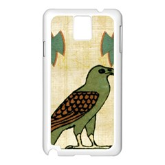 Egyptian Paper Papyrus Bird Samsung Galaxy Note 3 N9005 Case (white)