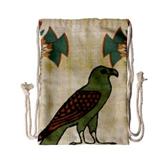 Egyptian Paper Papyrus Bird Drawstring Bag (small)