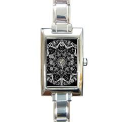 Mandala Psychedelic Neon Rectangle Italian Charm Watch