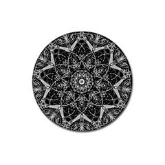 Mandala Psychedelic Neon Magnet 3  (round)