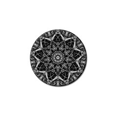 Mandala Psychedelic Neon Golf Ball Marker (4 Pack)