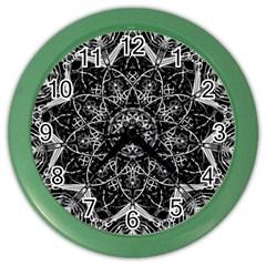 Mandala Psychedelic Neon Color Wall Clocks