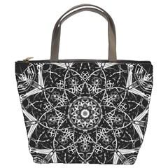 Mandala Psychedelic Neon Bucket Bags