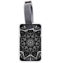 Mandala Psychedelic Neon Luggage Tags (one Side)