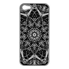 Mandala Psychedelic Neon Apple Iphone 5 Case (silver)