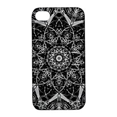 Mandala Psychedelic Neon Apple Iphone 4/4s Hardshell Case With Stand