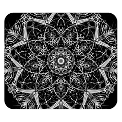 Mandala Psychedelic Neon Double Sided Flano Blanket (small)