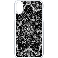 Mandala Psychedelic Neon Apple Iphone X Seamless Case (white)