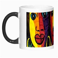 Ethnic Bold Bright Artistic Paper Morph Mugs