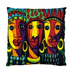 Ethnic Bold Bright Artistic Paper Standard Cushion Case (two Sides)