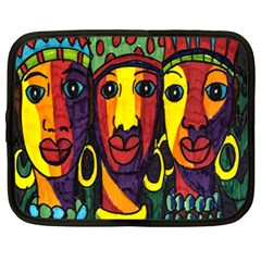 Ethnic Bold Bright Artistic Paper Netbook Case (xxl)