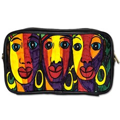 Ethnic Bold Bright Artistic Paper Toiletries Bags 2 Side