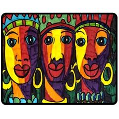 Ethnic Bold Bright Artistic Paper Fleece Blanket (medium)