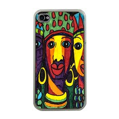 Ethnic Bold Bright Artistic Paper Apple Iphone 4 Case (clear)