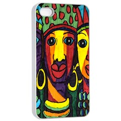 Ethnic Bold Bright Artistic Paper Apple Iphone 4/4s Seamless Case (white)